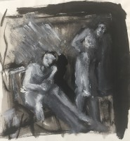 Charcoal & pastel on paper