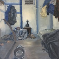 oil on canvas, 166 x 166 cm