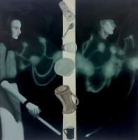 on canvas, 122 x 122 cm