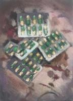 pastel on canvas, 21.5 x 15.2 cm