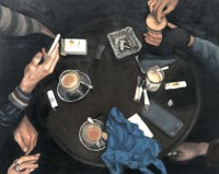 cigarettes on canvas, 59.5 x 87.5