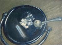 & oil pastel on canvas, 15 x 20 cm